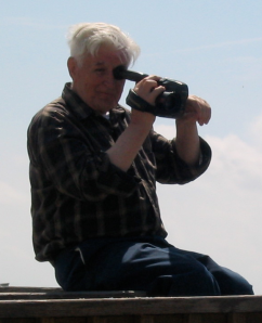 My father with video camera at NJ Shore
