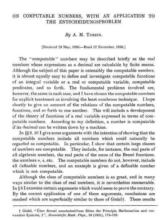 Happy Anniversary To Turing's Paper | Gödel's Lost Letter and P=NP